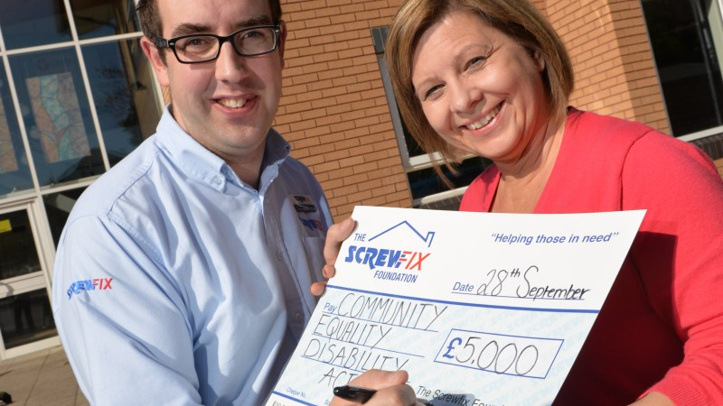 Exeter based charity gets a helping hand from The Screwfix Foundation