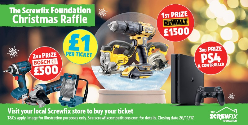 """The Screwfix Foundation thanks customers for being """"Incredibly Generous"""""""