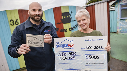 The Ark Centre gets a helping hand from the Screwfix Foundation