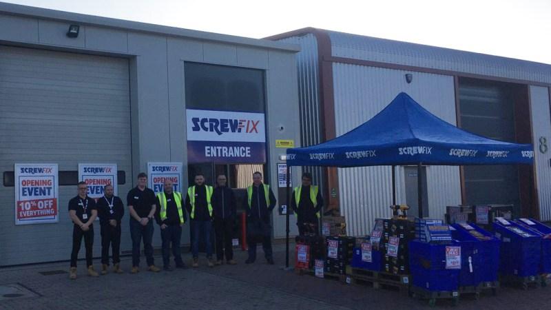 Screwfix opens its doors in Aylsham