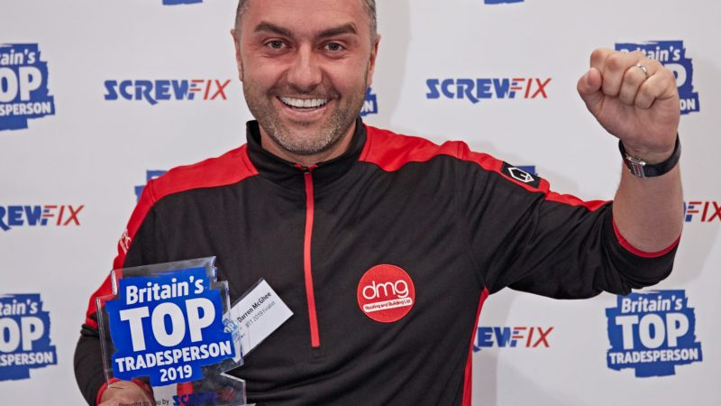 Britain's Top Tradesperson featured in the latest Screwfix Catalogue