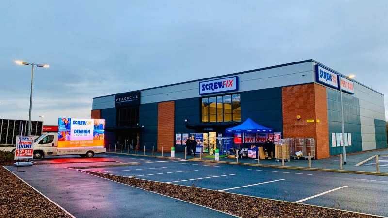 Denbigh celebrates new Screwfix store opening