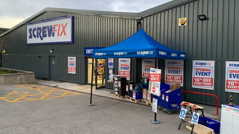 Screwfix opens new store in Skipton