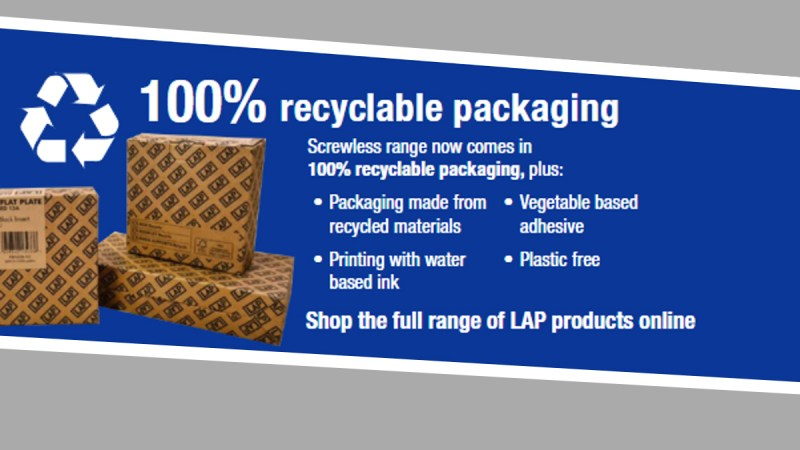 LAP electrical range now available from Screwfix with 100% recyclable packaging