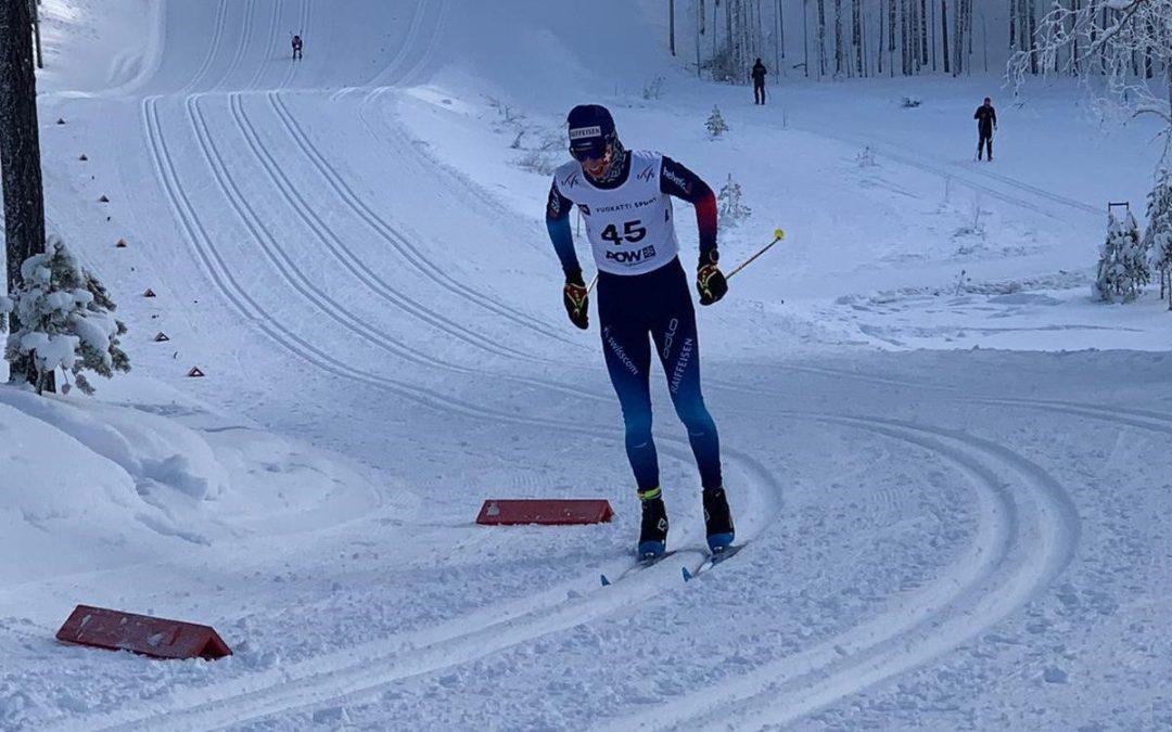 Antonin aux championnats du monde junior