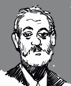 Drawing of Bill Murray by David Borden