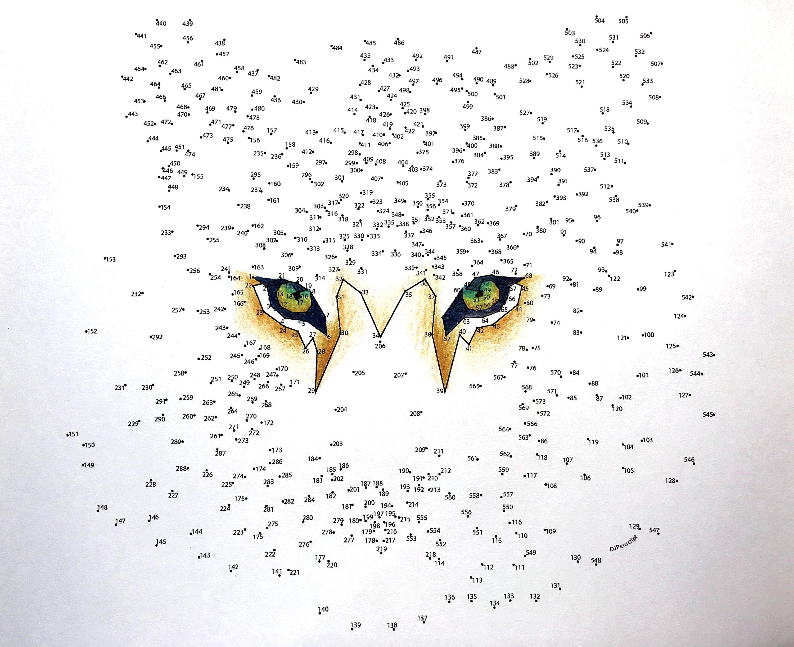 Tiger - Extreme Dot to Dot - PDF Activity and Coloring ...