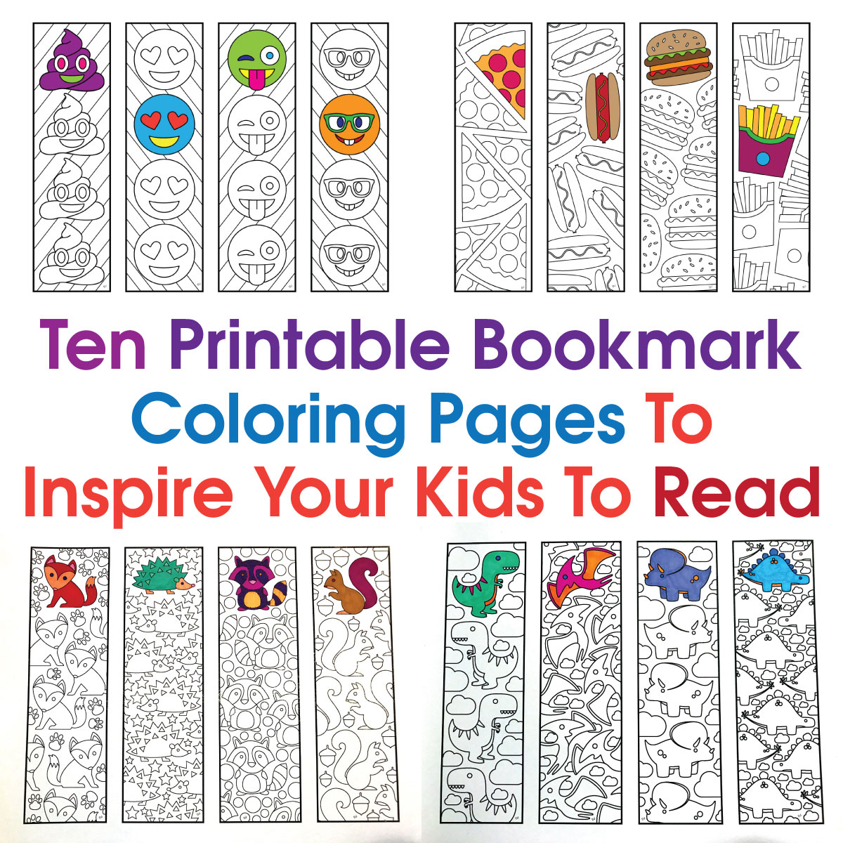 Ten Printable Bookmark Coloring Pages To Inspire Your Kids To Read Scribble Stitch