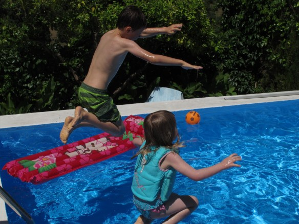 What could be more fun that jumping into a pool on a hot day?