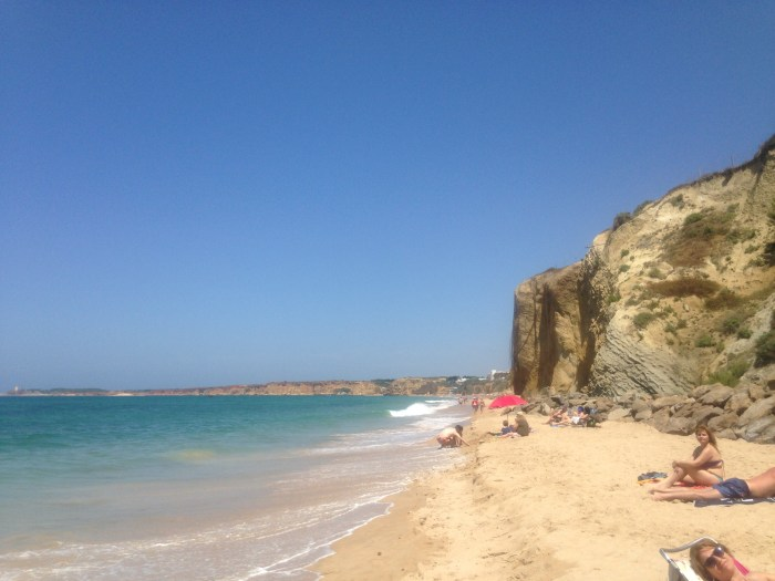 Fuente del Gallo beach, where we went the next day.