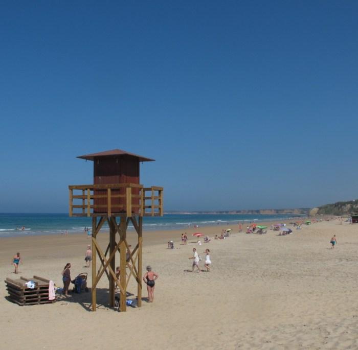 Fontanilla beach next to the restaurant.