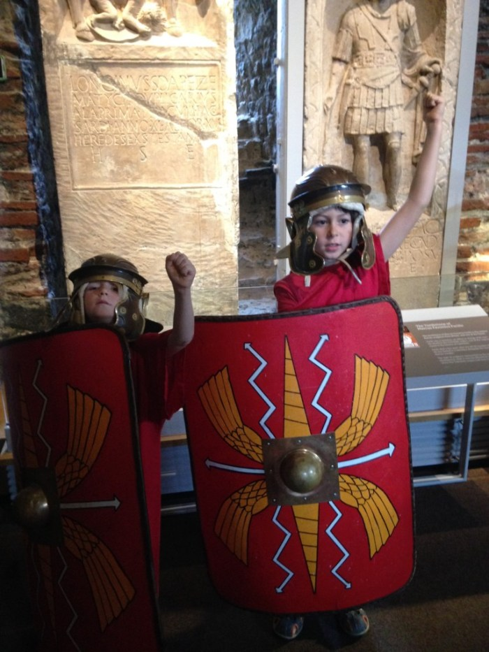 Roman soldiers on parade.