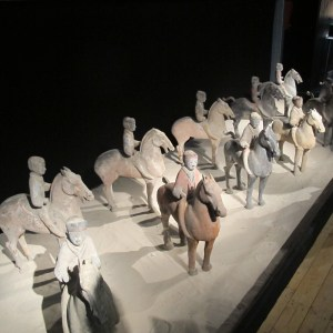 Han cavalrymen replicas - from the dynasty after Qin.