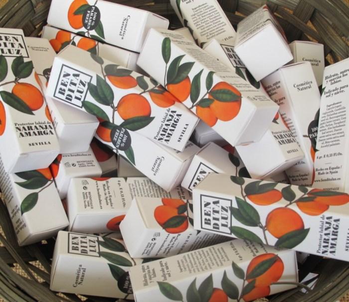 Lip salve, for orange-scented kisses.