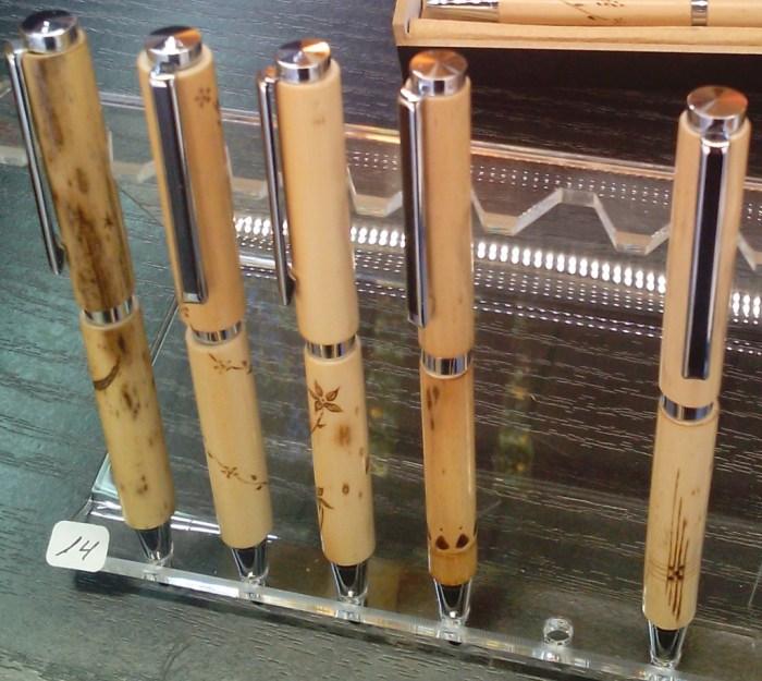 Beautiful bamboo pens..