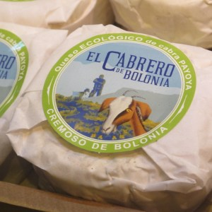 Fabulous packaging for this organic goat's cheese from Cadiz province.