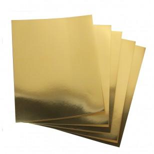 metallic poster board 25 sheets 8 5 x11 gold