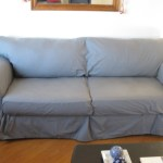 Gray couch slipcover
