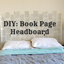 book page headboard