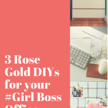 rose gold DIY office decor #girlboss #office #feminine #marble #decor