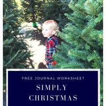 intentional Christmas journaling free download #christmas #printable #simple #worksheet #planning