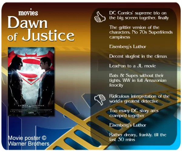 After decades in the making, the supreme trio of Superman, Batman and Wonder Woman finally gets together in Dawn of Justice. How does it fare?