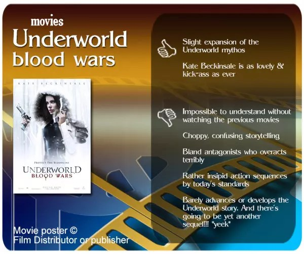 Underworld: Blood Wars is an utterly unnecessary & meaningless sequel. There is little development or resolution, and those new to the franchise would be bewildered by the endless flashbacks.