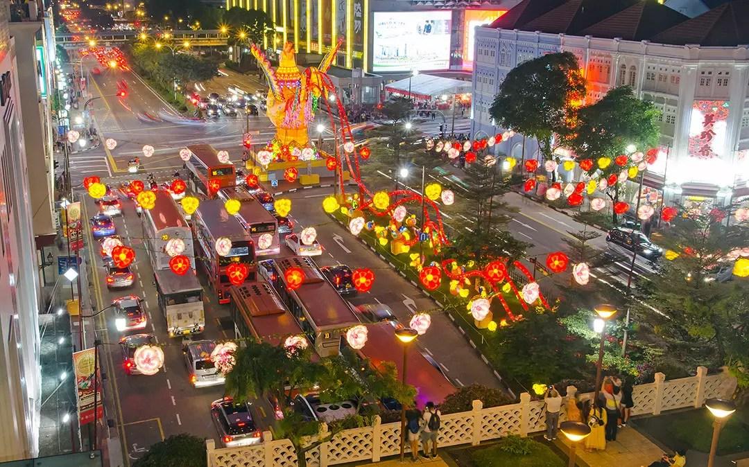Eu Tong Sen Street during Chinese New Year Light-Up.