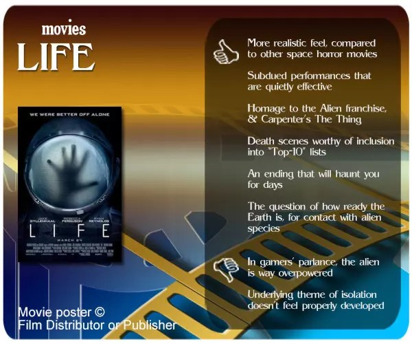 Life (2017 Movie) review - 6 thumbs up and 2 thumbs down.