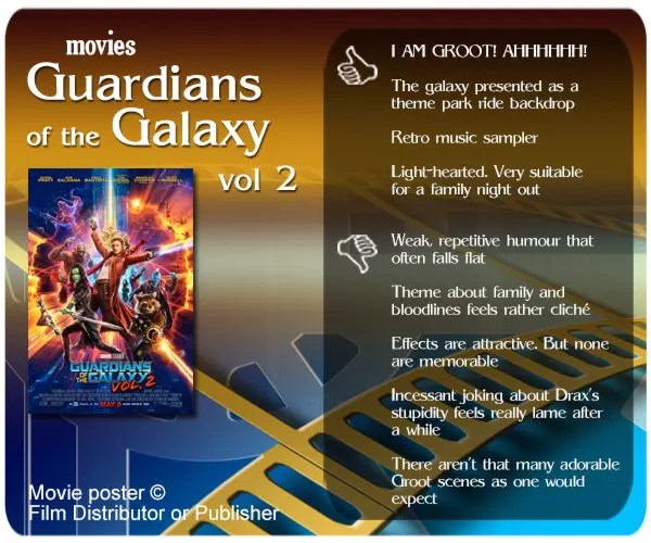 Guardians of the Galaxy Vol. 2 review - 4 thumbs up and 5 thumbs down.