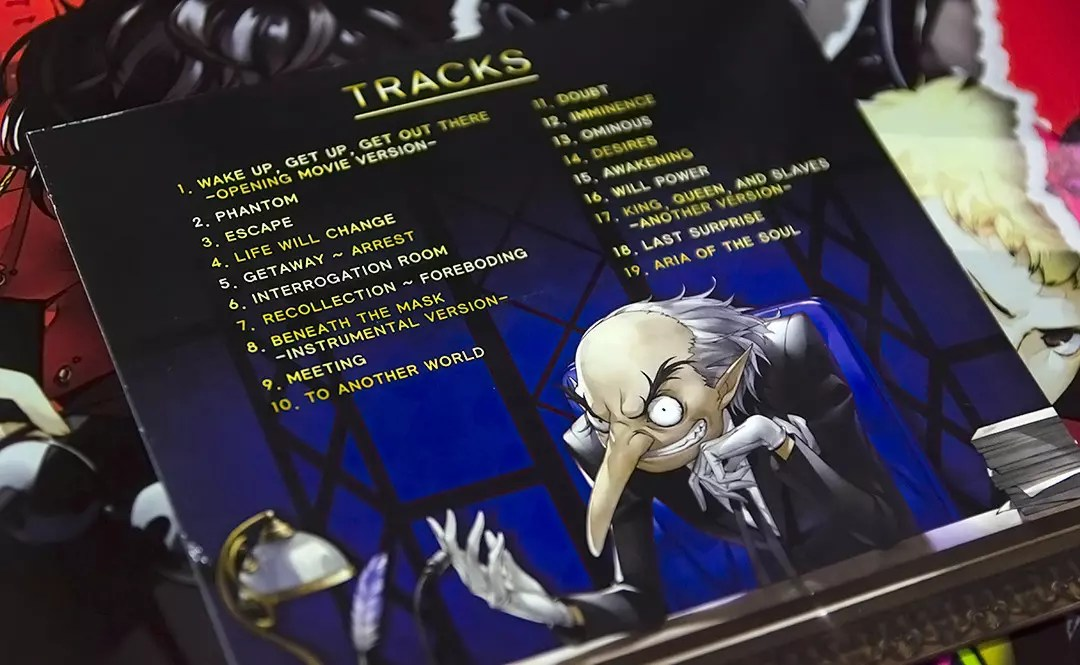 Persona 5 Sountrack Song List.