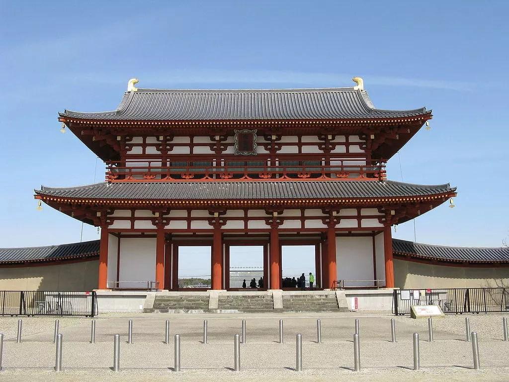 Suzaku Gate at Reconstruction of Heijō Palace.