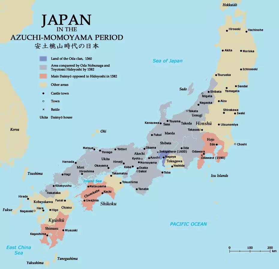 Japan in the Azuchi Momoyama Period.