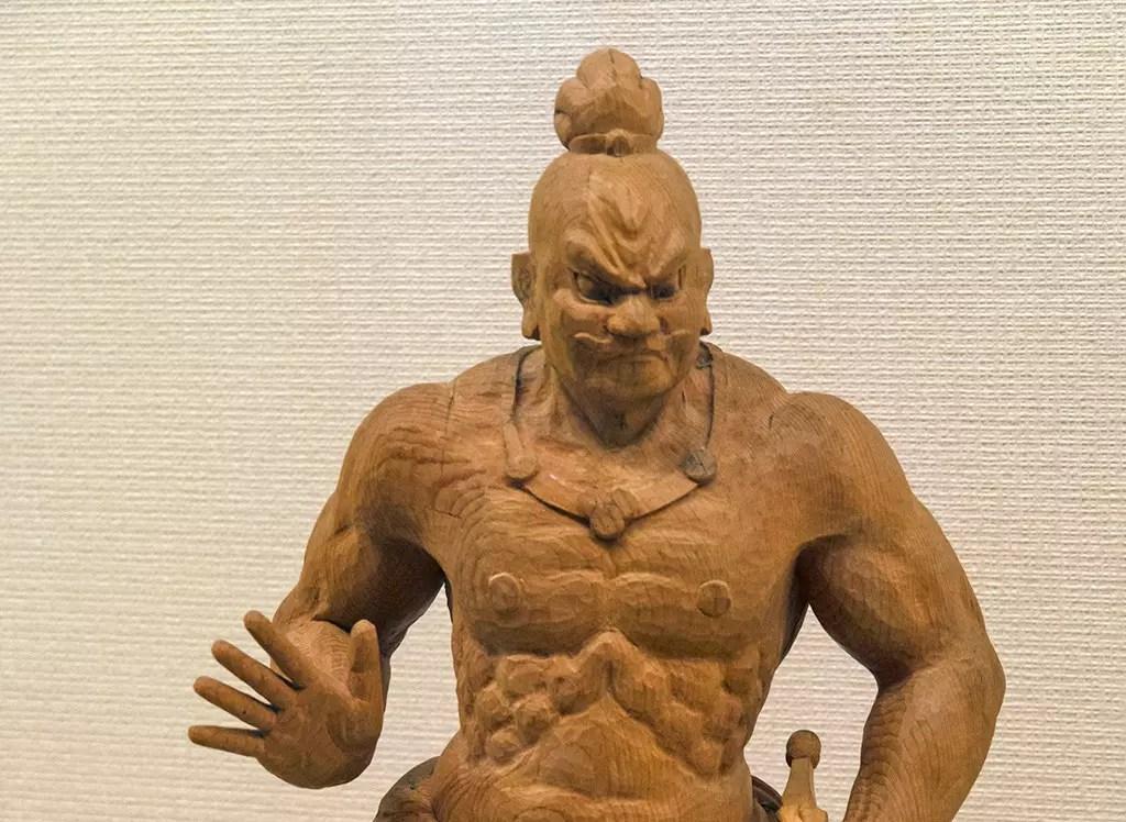 Japanese Nio Guardian Statue