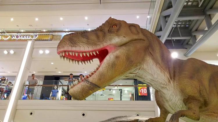 Rawr! Dinosaurs Unearthed at Plaza Singapura.