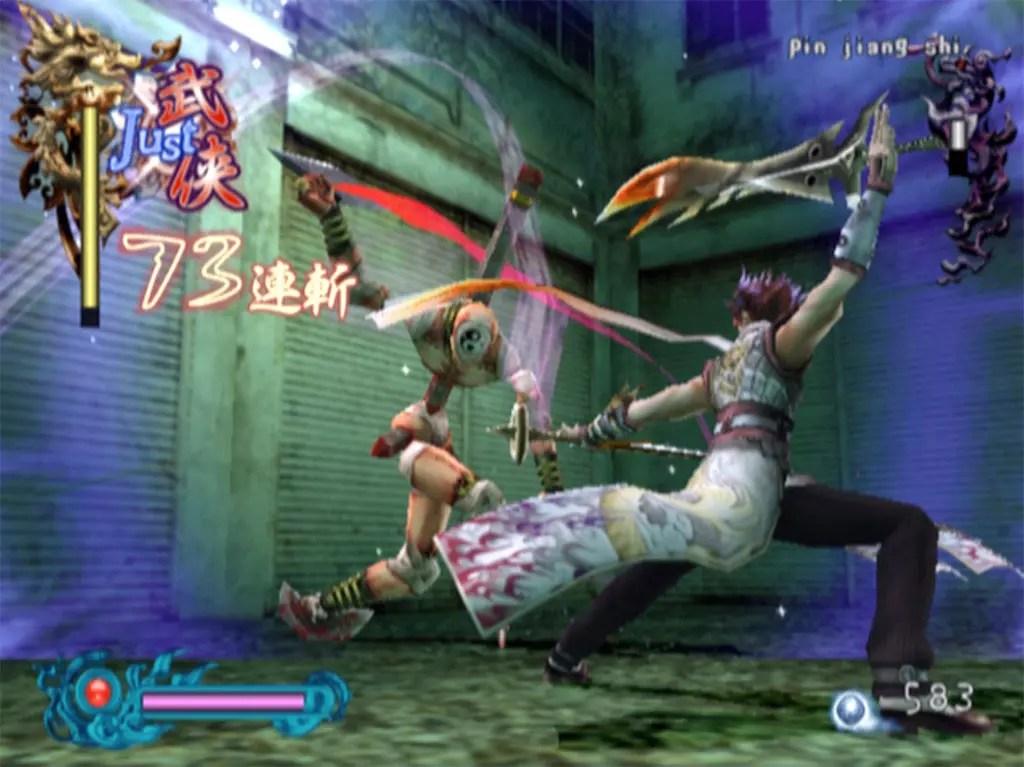 Dazzling Wuxia combat in Bujingai: The Forsaken City.
