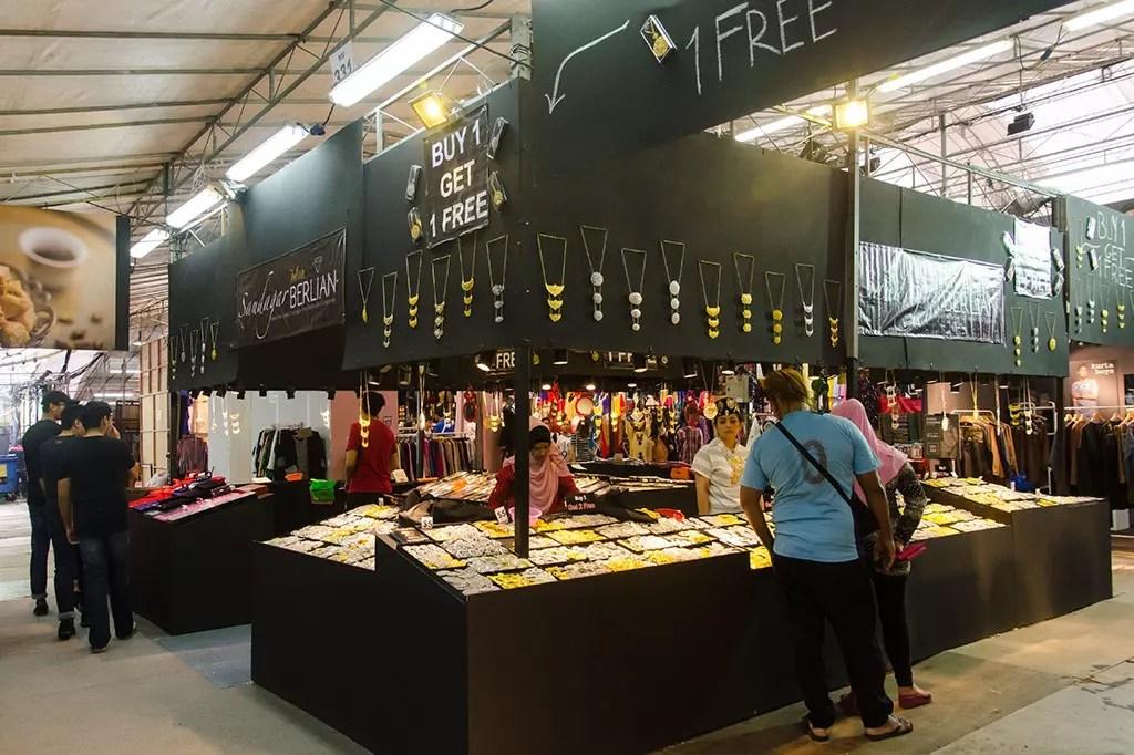 Jewellry on Sale at Geylang Serai Bazaar 2017.