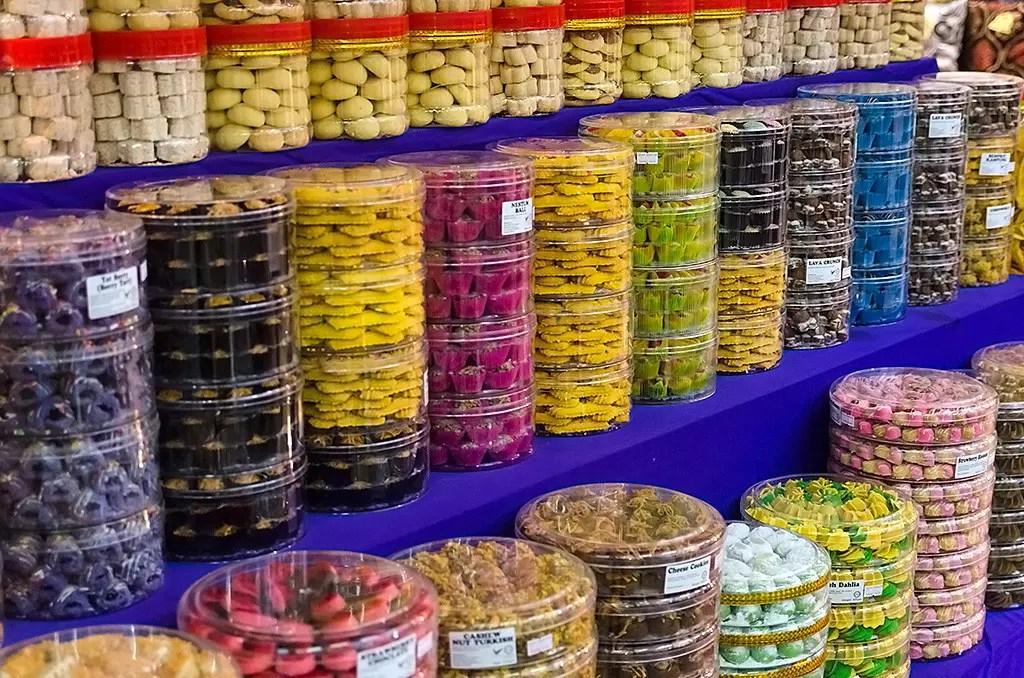 Hari Raya Puasa Snacks on sale at Geylang Serai Bazaar 2017.