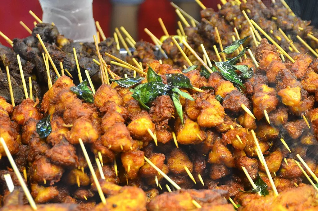 Skewered meats at Geylang Serai Bazaar 2017