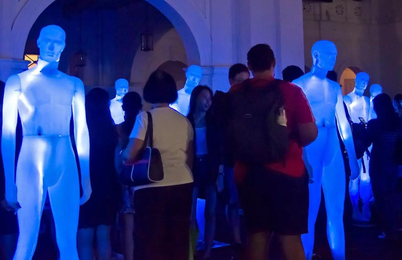 Singapore Night Festival 2017: The Standing Men.
