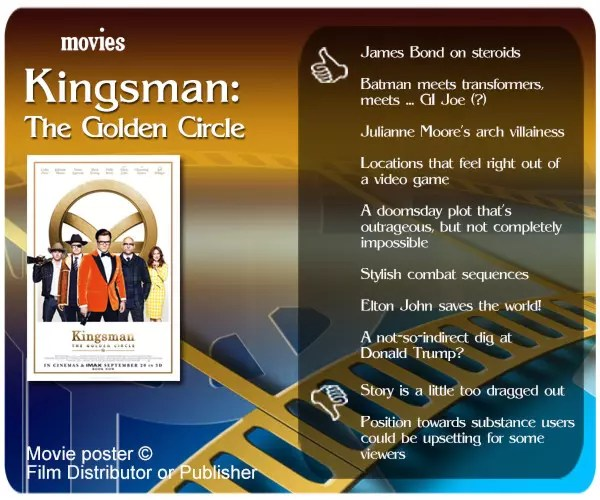Kingsman: The Golden Circle review - 8 thumbs up and 2 thumbs down.
