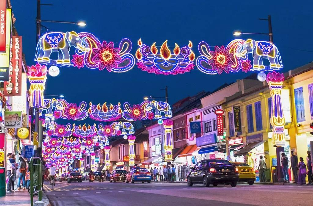 Little India Deepavali Festive Light-Up 2017, Singapore.