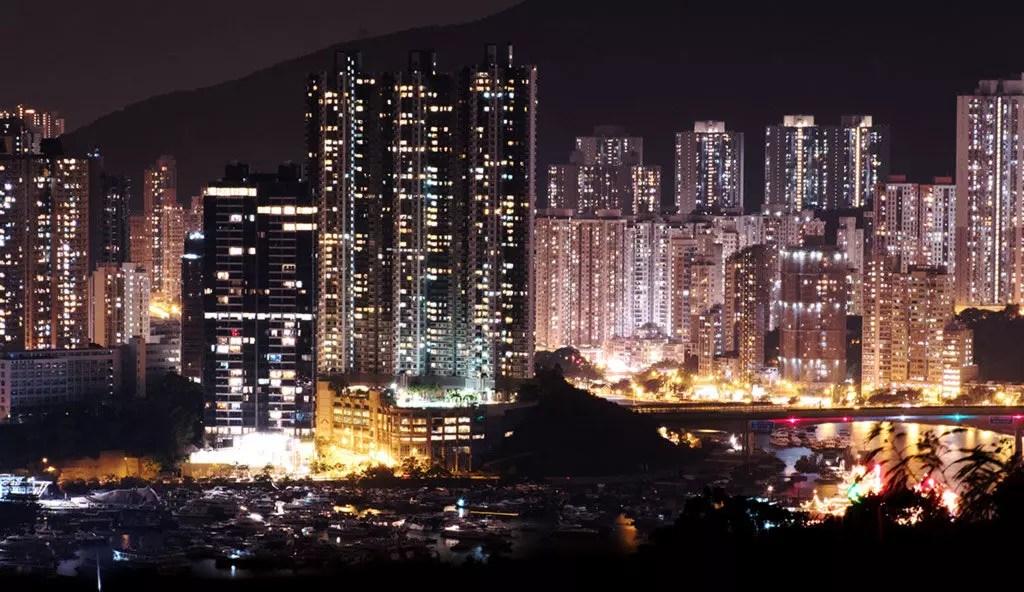 Aberdeen Hong Kong, Night View.