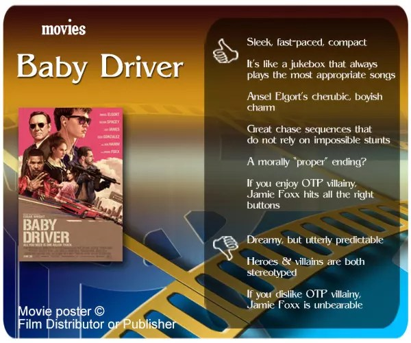 Baby Driver review - 6 thumbs up and 3 thumbs down.