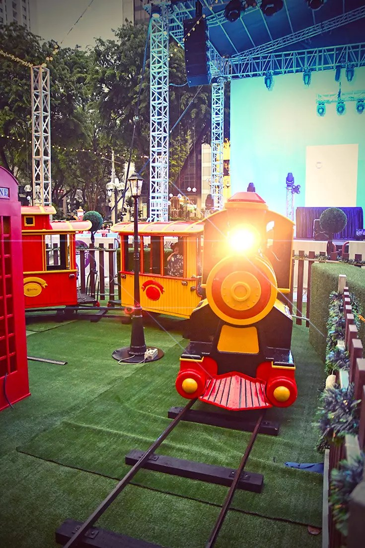 Kids Train Ride at Ngee Ann City Christmas Village.
