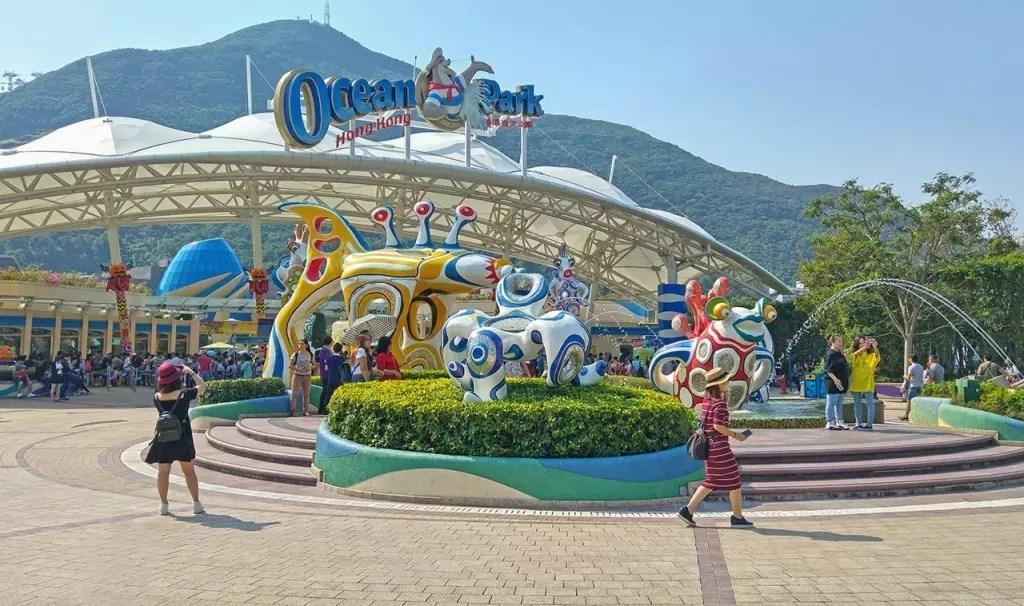 Ocean Park Hong Kong Main Entrance