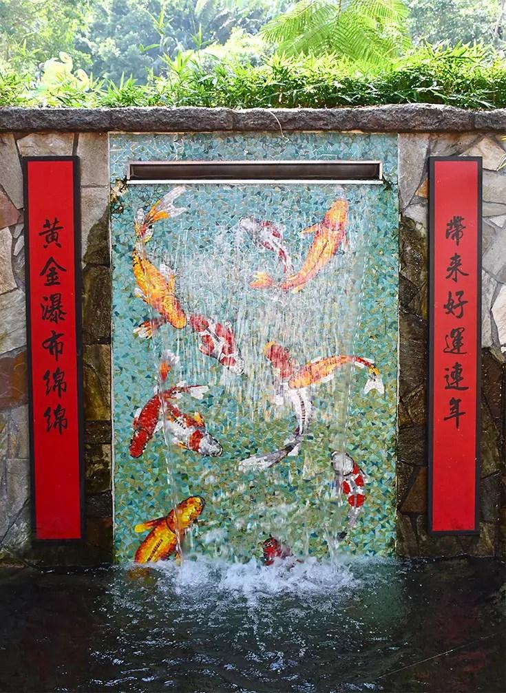 Ocean Park Hong Kong - Landscaping feature at Goldfish Treasures