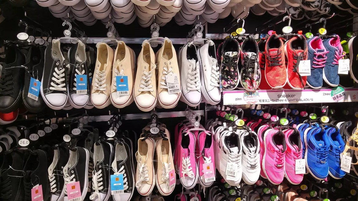 Shoes Section at Donki Orchard Central Branch.