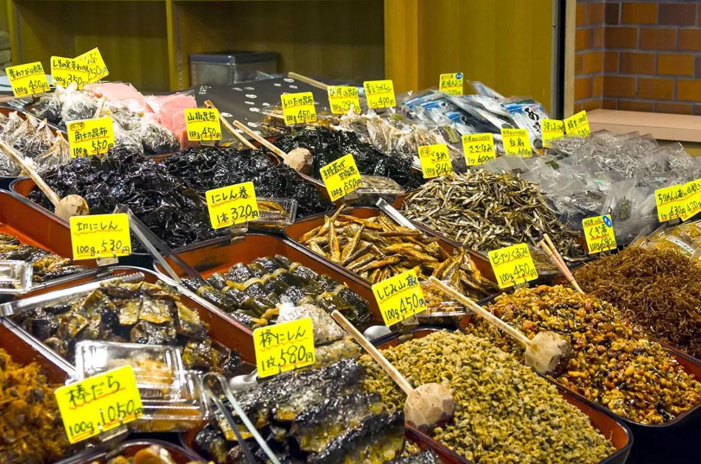 Nishiki Market Food Ingredients.