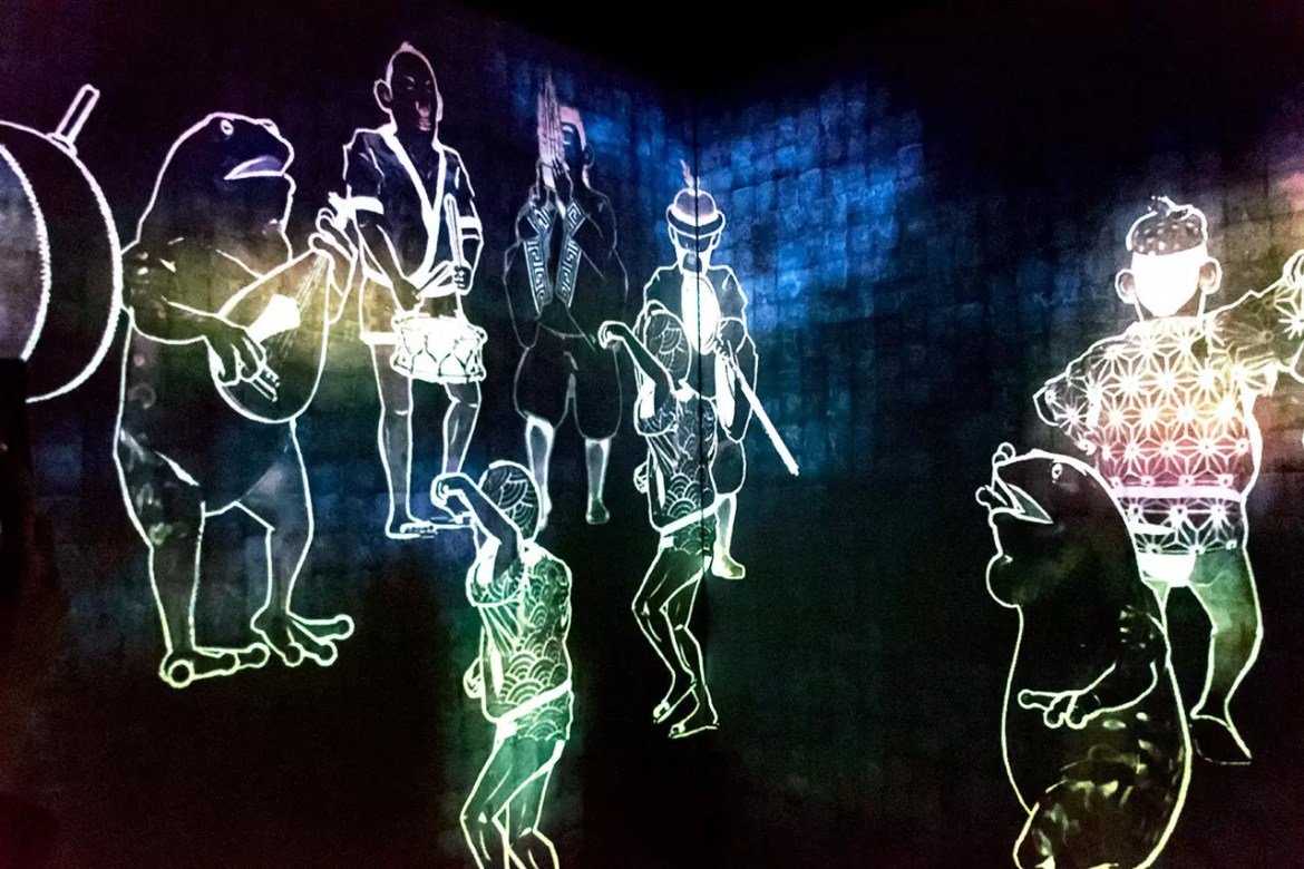 Walk, Walk, Walk, Search, Deviate, Reunite by Teamlab
